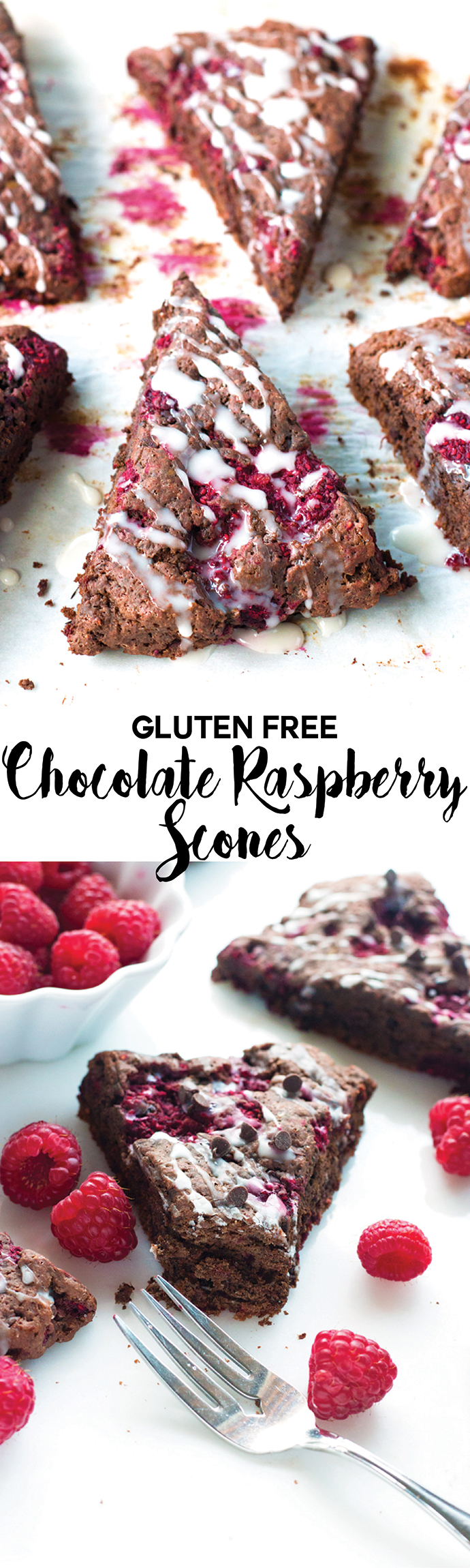 Gluten-Free Chocolate Raspberry Scones - Grain Changer