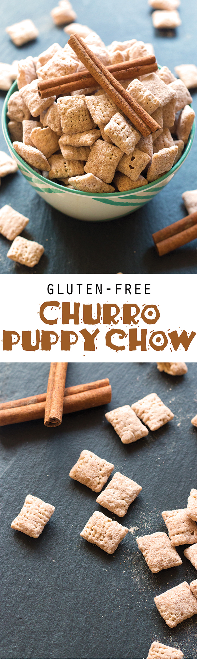 Gluten-Free Churro Puppy Chow | www.grainchanger.com