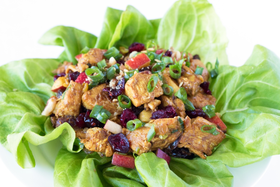 Gluten-Free Curried Chicken Salad - the perfect mix of savory and sweet   grainchanger.com