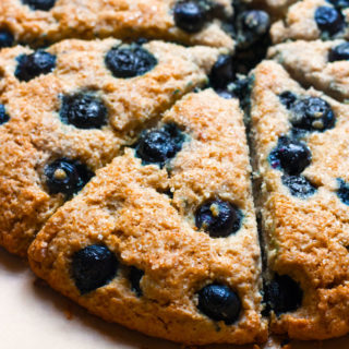 Gluten-Free Blueberry Oatmeal Scones [+Dairy-Free]