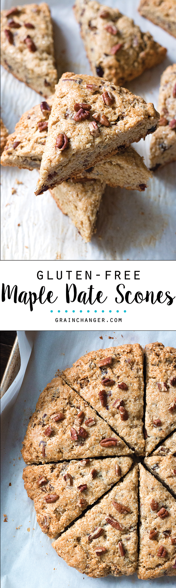 Gluten-Free Maple Date Scones | www.grainchanger.com