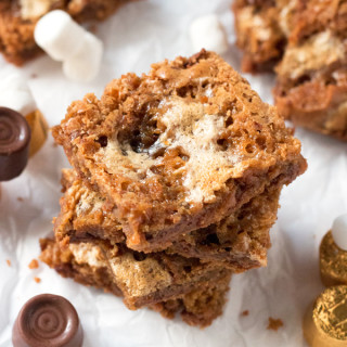 Gluten-Free Rolo Cookie Bars