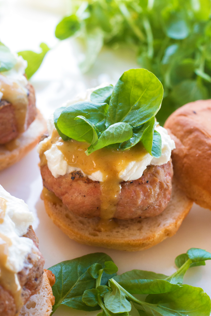 Lemon Honey Mustard Turkey Burgers with Creamy Goat Cheese ...