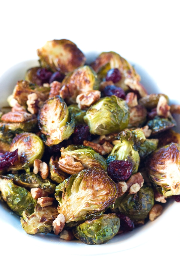 Honey Glazed Roasted Brussels Sprouts - gluten-free! | www.grainchanger.com