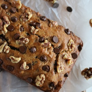 Gluten-Free Walnut Chocolate Chip Banana Bread