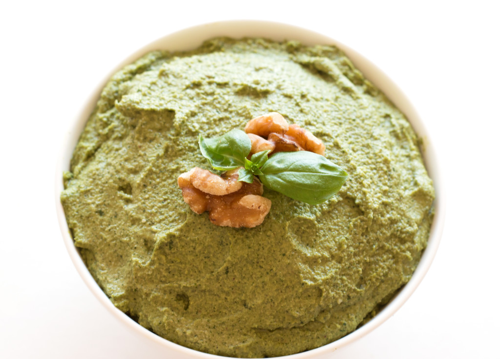 Basil Walnut Pesto -- the best pesto you will ever have.  Bursting with flavor and unbelievable versatile | grainchanger.com