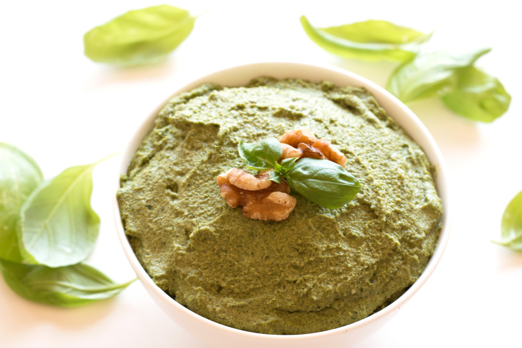 Basil Walnut Pesto - it will take just about any dish from good to out of this world! |grainchanger.com