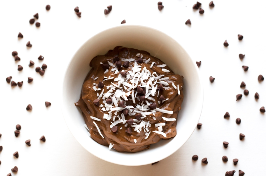 Gluten-free, dairy-free, and vegan, this Chocolate Avocado Pudding is SO much better than the original, if you can believe it! | www.grainchanger.com
