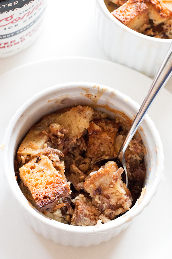 Gluten-Free Melted Ice Cream Bread Pudding | www.grainchanger.com