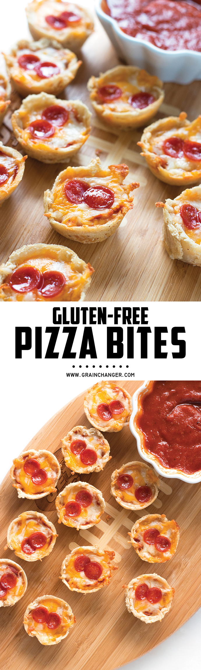 Gluten-Free Pizza Bites - perfect appetizer for the Super Bowl! | www.grainchanger.com