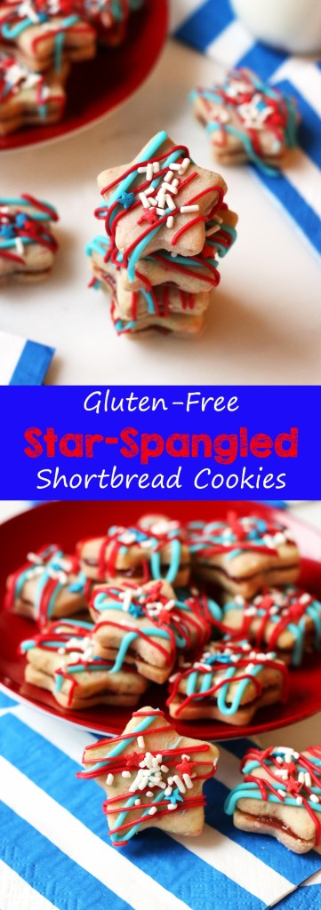 Gluten-Free Star Spangled Shortbread Cookies | www.grainchanger.com