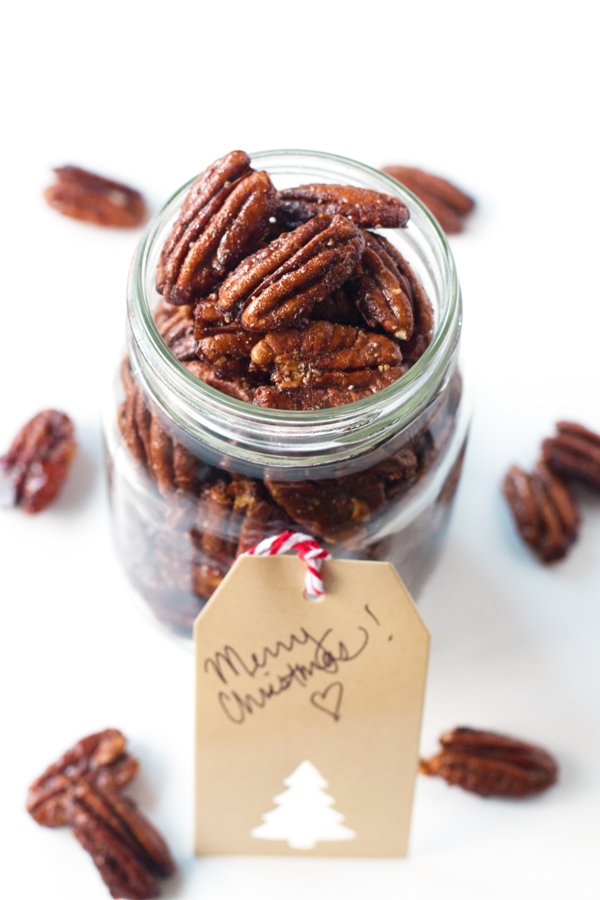 Peppered Candied Pecans | www.grainchanger.com