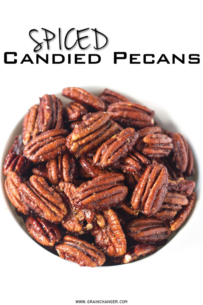 Spiced Candied Pecans | www.grainchanger.com