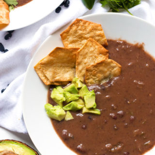 Spicy Black Bean Soup | www.grainchanger.com