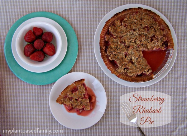 Gluten-Free Vegan Strawberry Rhubarb Pie from My Plant Based Family