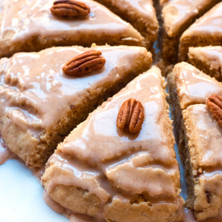 Gluten-Free Eggnog Scones - perfect for Christmas morning brunch! Dairy-free & Soy-Free | www.grainchanger.com