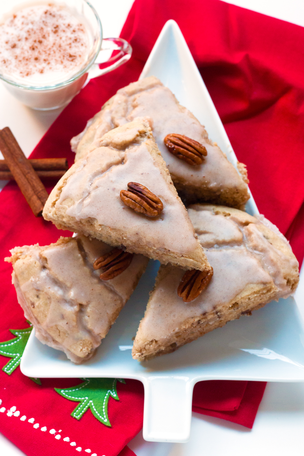 Gluten-Free Eggnog Scones - perfect for Christmas morning brunch! Dairy-free & Soy-Free   www.grainchanger.com