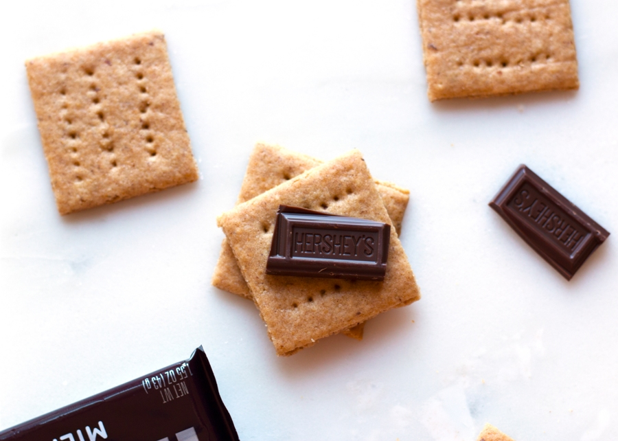 Gluten-Free Graham Crackers - s'mores are possible again! | www.grainchanger.com
