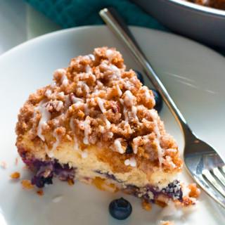Gluten-Free Blueberry Peach Coffee Cake | www.grainchanger.com