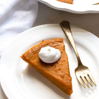 Gluten-Free Dairy-Free Crustless Pumpkin Pie | www.grainchanger.com