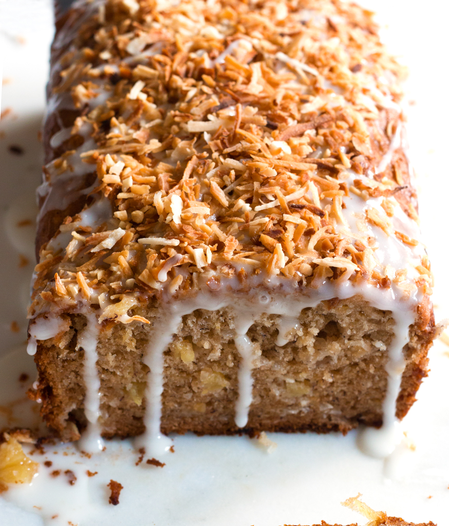 Gluten Free Pineapple Coconut Banana Bread Www Grainchanger Com