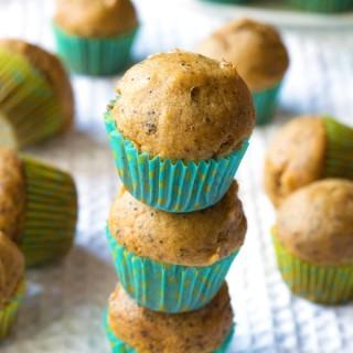 Gluten-Free Pumpkin Chai Mini Muffins | www.grainchanger.com