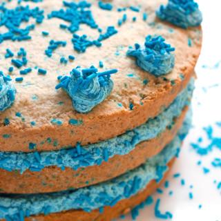 Gluten-Free Sugar Cookie Layer Cake | www.grainchanger.com