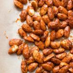 Pumpkin Spice Candied Almonds | www.grainchanger.com