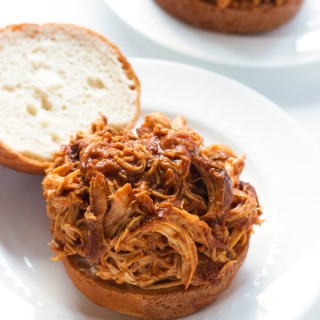 Slow Cooker Pulled Barbecue Chicken