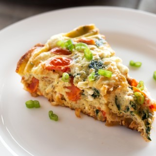 Spinach Tomato Frittata with Goat Cheese